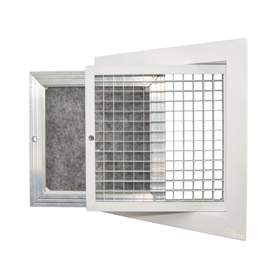 STOCKED RANGE Hinged Eggcrate Grilles c/w Filter - Quality